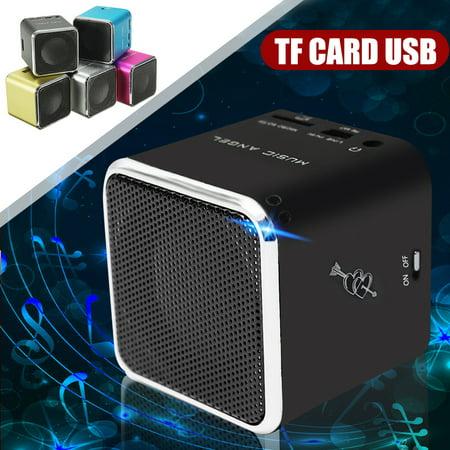 Portable Mini Speaker SD TF Card Micro USB Stereo MP3/4 Cellphone Music Audio Player Christmas Gift