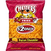 Chester's Fries, Bacon Cheddar Corn & Potato Snacks, 5.5 oz Bag
