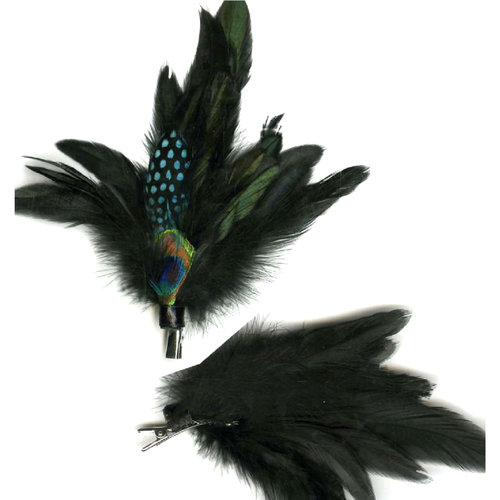 Essentials Peacock Feather Hair Clip