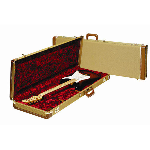 Fender Deluxe Stratocaster / Telecaster Case with Red Plush Interior