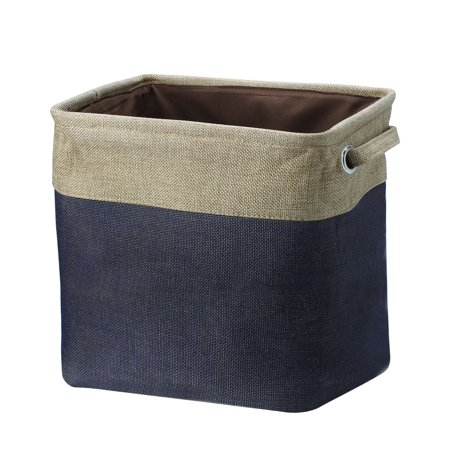 Unique Bargains Fabric Storage Baskets Cube Bin 3 Colors,3 Size ()