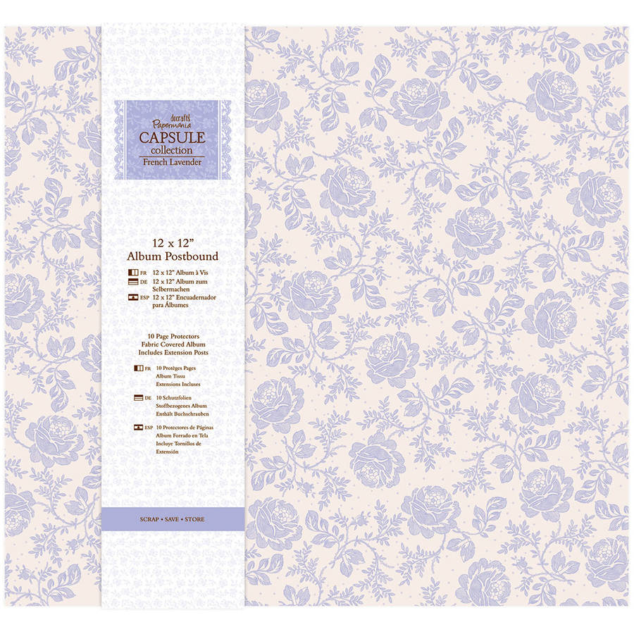 "Papermania French Lavender Postbound Album, 12"" x 12"""