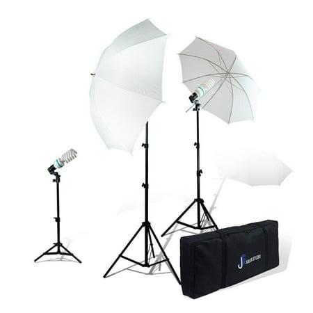 Loadstone Studio Photography Studio Video Portrait Umbrella Continuous Bulb Triple Lighting Kit , (Photography Video Studio Umbrella)