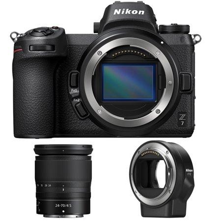 Nikon Z7 FX-Format 4K Mirrorless Camera with NIKKOR Z 24-70mm f/4 Lens Bundle with Mount Adapter FTZ for Using F-mount Nikkor Lenses On Z Mirrorless Cameras