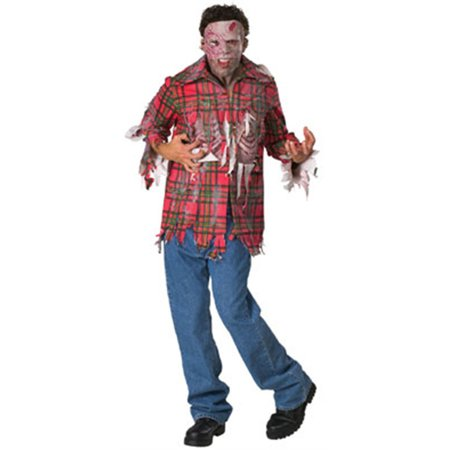 Adult Dawn of the Dead Plaid Boy Zombie Costume - Dawn Of The Dead Halloween Costume