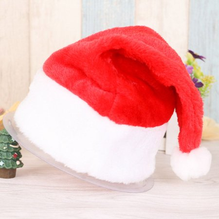 Holiday Time Xmas Official Plush Santa Claus Hat & Comfort Liner Christmas Halloween Costume for Kids (Plug In And Outlet Halloween Costume)