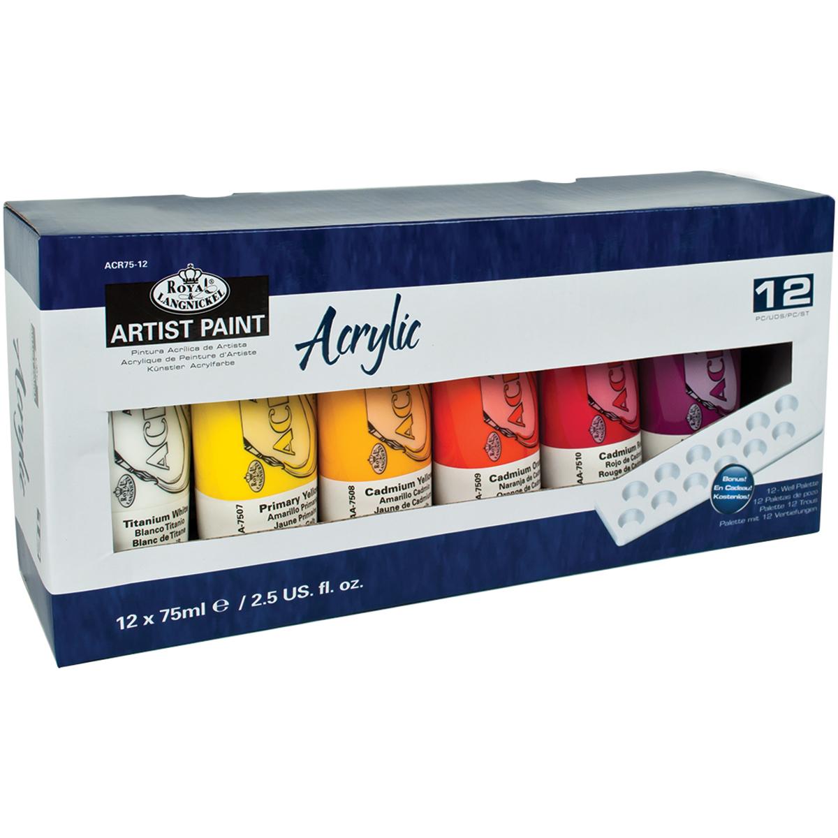Acrylic Paints 75Ml 12/Pkg-Assorted Colors - image 1 de 1