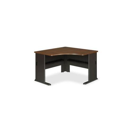 Corner Desk, 47-1/4x47-1/4x29-7/8, Sienna Walnut/Bronze