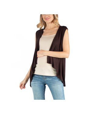 24seven Comfort Apparel Sleeveless Open Front Maternity Cardigan Vest, M011305 MADE IN THE USA