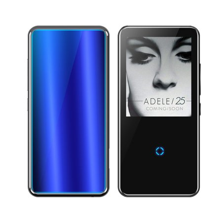 Refurbished Unbranded 2.4'' 16GB HiFi h MP3 MP4 Player, Black/Blue