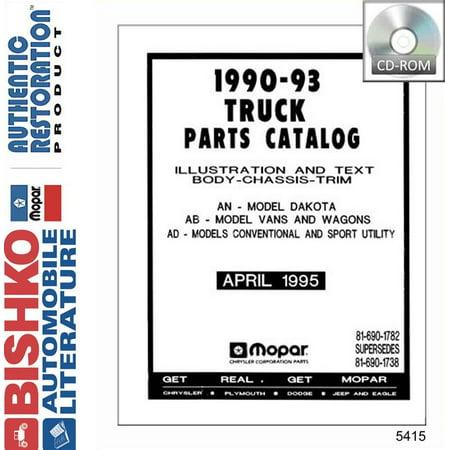 Truck Oem Parts Cd - Bishko OEM Digital Repair Maintenance Parts Book CD for Dodge Truck All Models 1990 - 1993