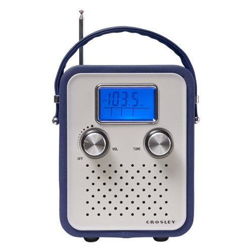 CROSLEY RADIO CR8006A-BL Songbird Alarm Clock Radio