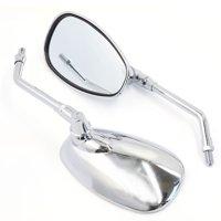 Universal Chrome Rearview Mirrors For Kawsaki  Cruiser Chopper Motorcycle