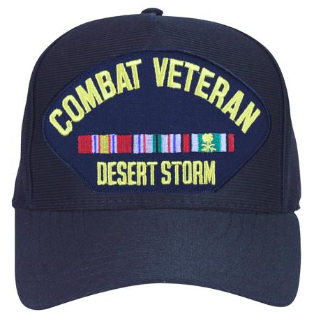 Desert Storm Combat Veteran with Ribbons Ball Cap