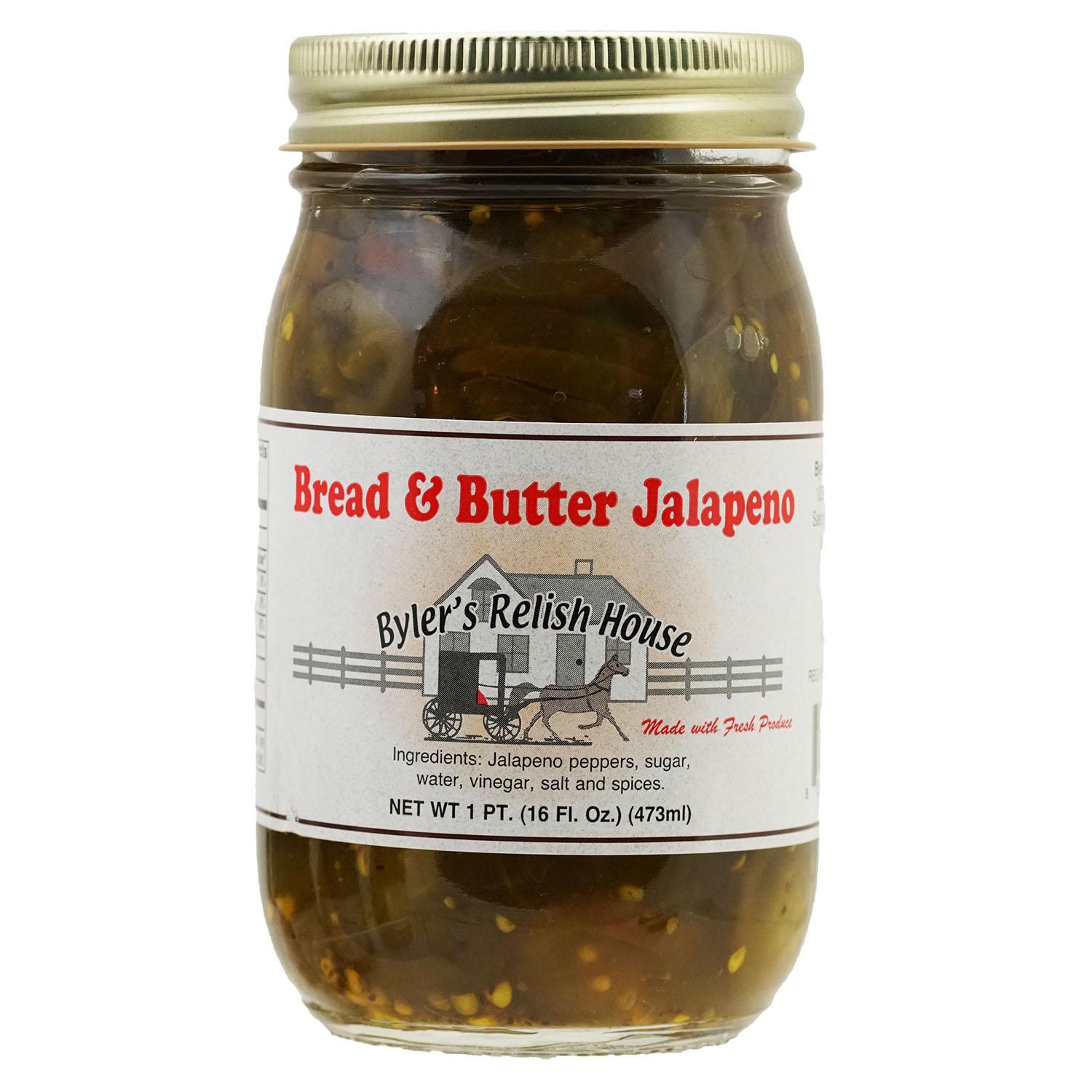 Byler's Relish House Homemade Amish Country Bread and Butter Jalapeno 16 oz. by Byler's Relish House