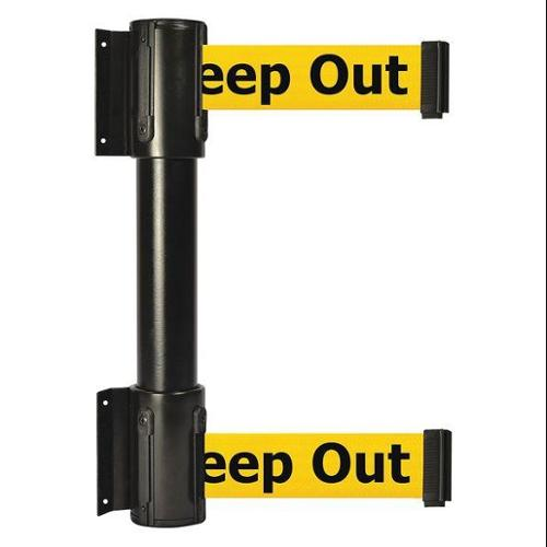 TENSATOR 896T2-33-STD-YDX-C Belt Barrier, 7-1/2 ft, Danger -Keep Out