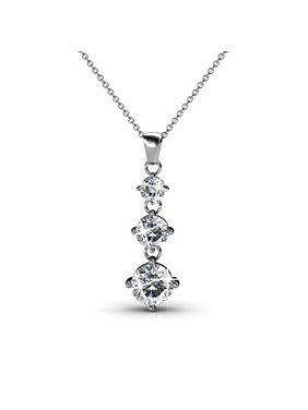 cced8ae62 Product Image Cate & Chloe Delilah 18k White Gold Swarovski Pendant Necklace,  Special-Occasion-Jewelry