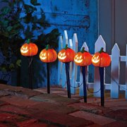 Pumpkin Pathway Battery Operated Lawn Stakes Halloween Decoration