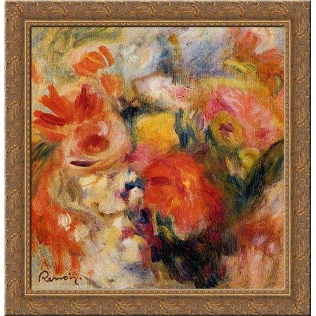 Flower Study 20x20 Gold Ornate Wood Framed Canvas Art by Renoir, Pierre - Pierre Auguste Renoir Gallery