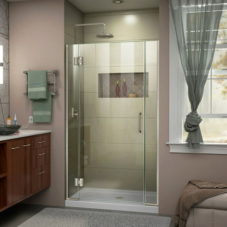 DreamLine Unidoor X 37 1 2 38 in W x 72 in H Frameless Hinged Shower D