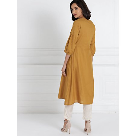 all about you from Deepika Padukone Brown Solid A-Line Kurta - image 3 de 6