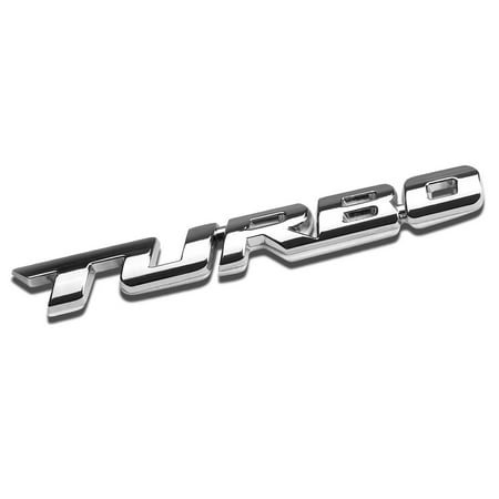 3D Letter Metal Emblem Turbo Badge (Chrome Silver)