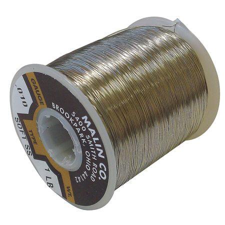 MALIN COMPANY 08-0625-001S Baling Wire,0.0625 Dia,95.98 ft ...