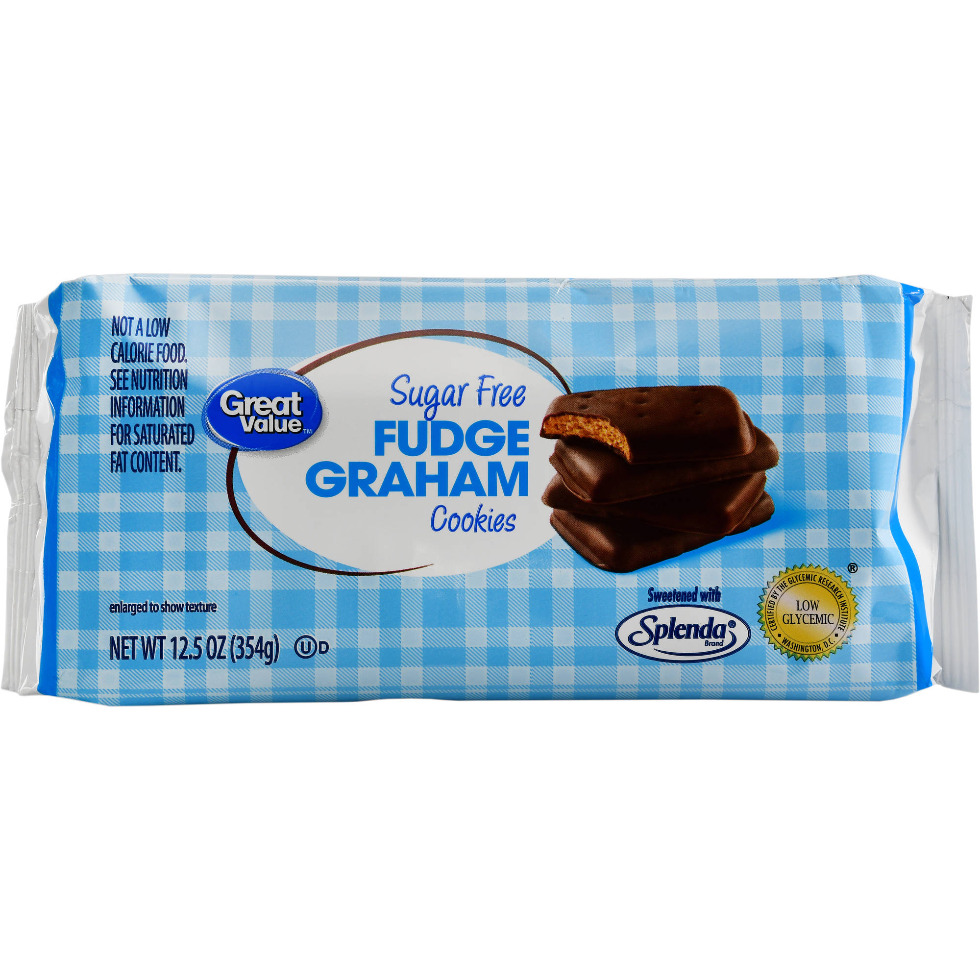 Great Value Sugar Free Fudge Graham Cookies, 12.5 oz