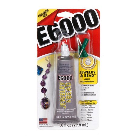 Eclectic E6000 Jewelry and Bead Glue: 1 ounce