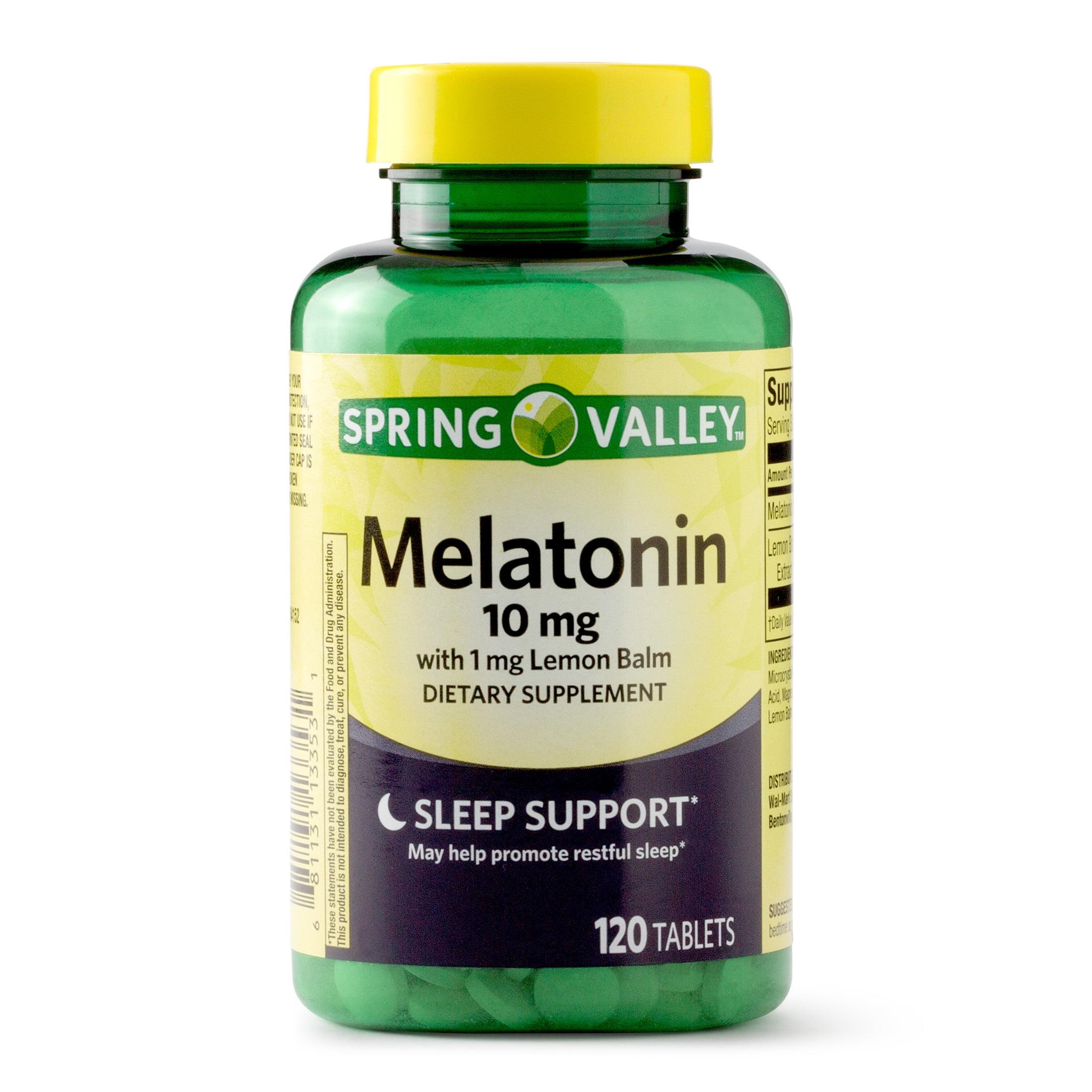 Spring Valley Melatonin Tablets, 10 mg, 120 Ct