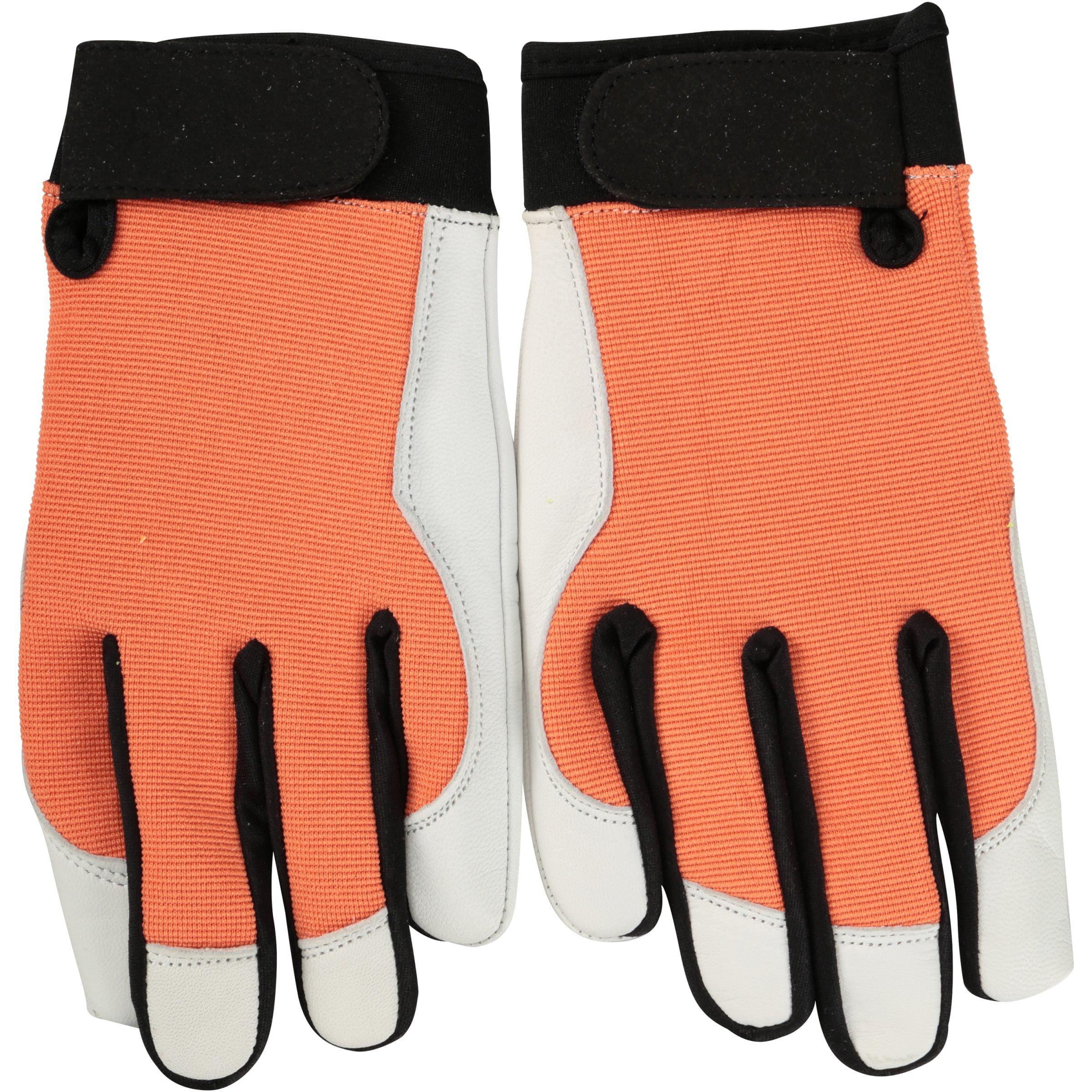 Expert Gardener Goatskin Performance Gloves Womens Leather Work Gloves Large