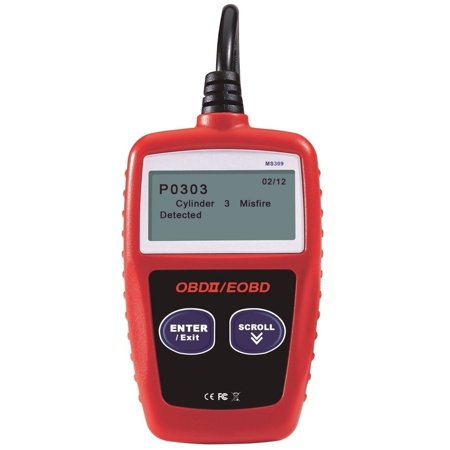 MS309 OBD2 OBDII EOBD Scanner Car Code Reader Data Tester Scan Diagnostic