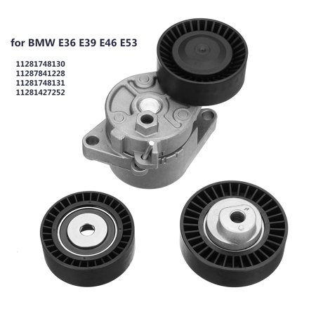 Serpentine Belt Tensioner & Idler Pulley Kit Set for BMW E36 E39 E46 E53