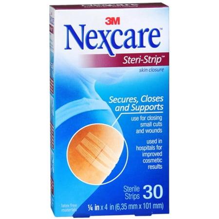 Skin Closure - Nexcare Steri-Strip Skin Closure Strips 1/4 Inch X 4 Inches 30 Each