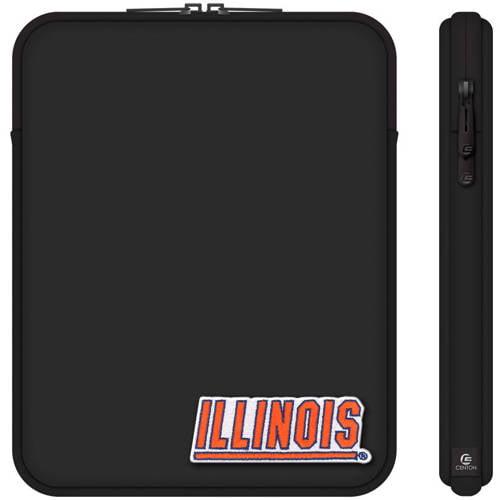 "Centon 10"" Classic Black Tablet Sleeve University of Illinois"