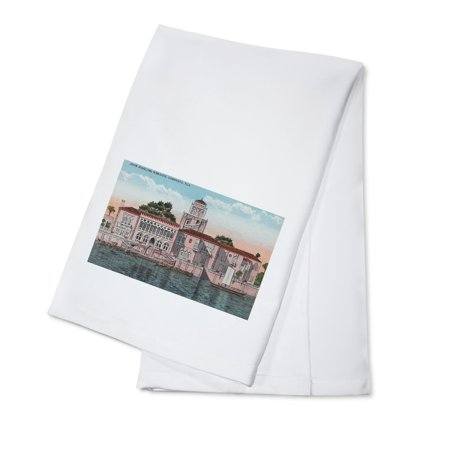 Sarasota, Florida - View of John Ringling Mansion (100% Cotton Kitchen Towel)