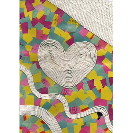 Framed Art For Your Wall String Heart Collage 10x13 Frame Walmartcom