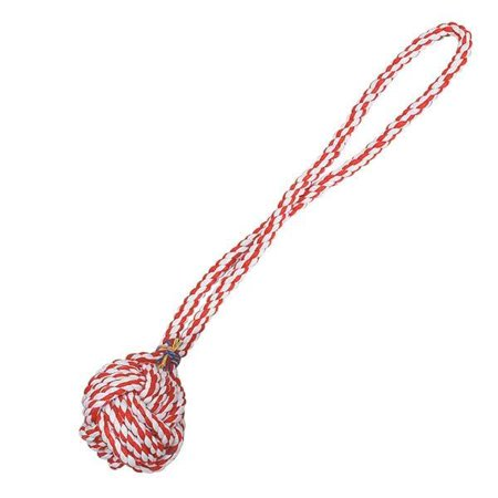 - Monkey Fist Knot Rope Dog Toy Ball Handle Fetching Tugging Choose Size & Color (Small - 15