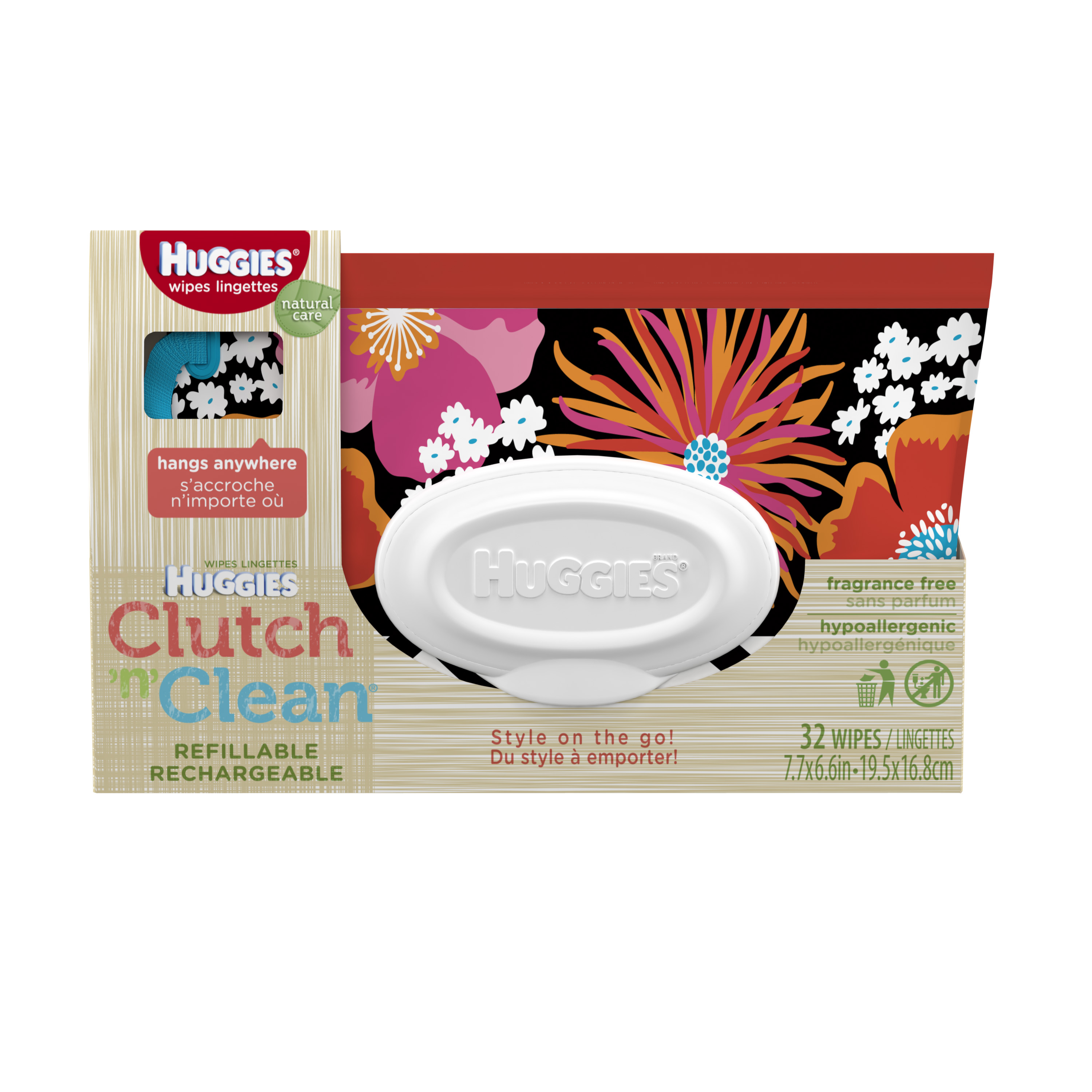 STYLE WILL VARY Huggies Wipe Clutch N Clean Refill 32 ct