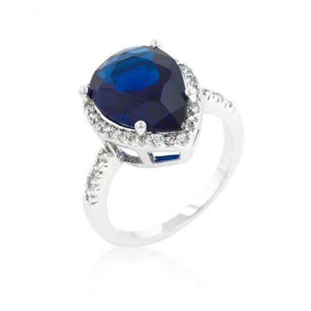 Icon Bijoux R08286R-C30-05 Sapphire Cubic Zirconia Drop Ring (Size: 05) - image 1 of 1