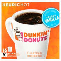 Dunkin' Donuts French Vanilla K-Cup Pods Coffee, 0.37 oz, 16 count