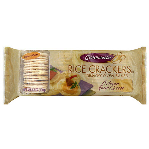 Crunchmaster Artisan Four Cheese Rice Crackers, 3.5 oz (Pack of 12) by Generic