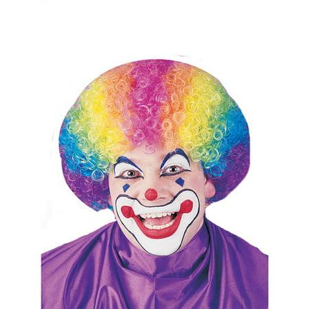 Rainbow Clown Wig Adult Halloween Accessory