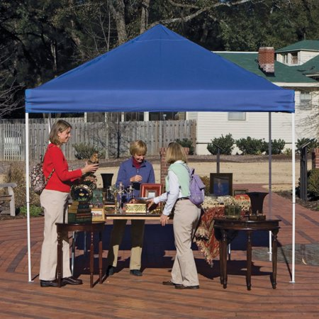 10' x 10' Pro Pop-up Canopy Straight Leg, Blue Cover