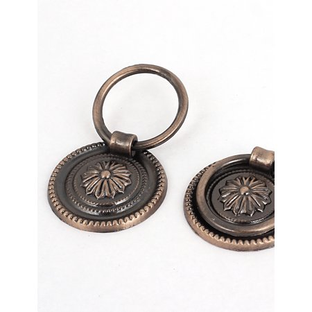 Cupboard Cabinet Drawer 36mm Dia Vintage Style Ring Pull Knob Handle 5 Pcs - image 1 of 4