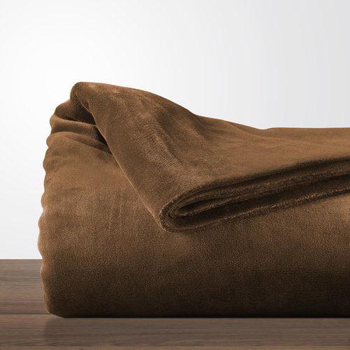 Williston Forge Blondene Double-Layer Fleece Reversible Bed Blanket