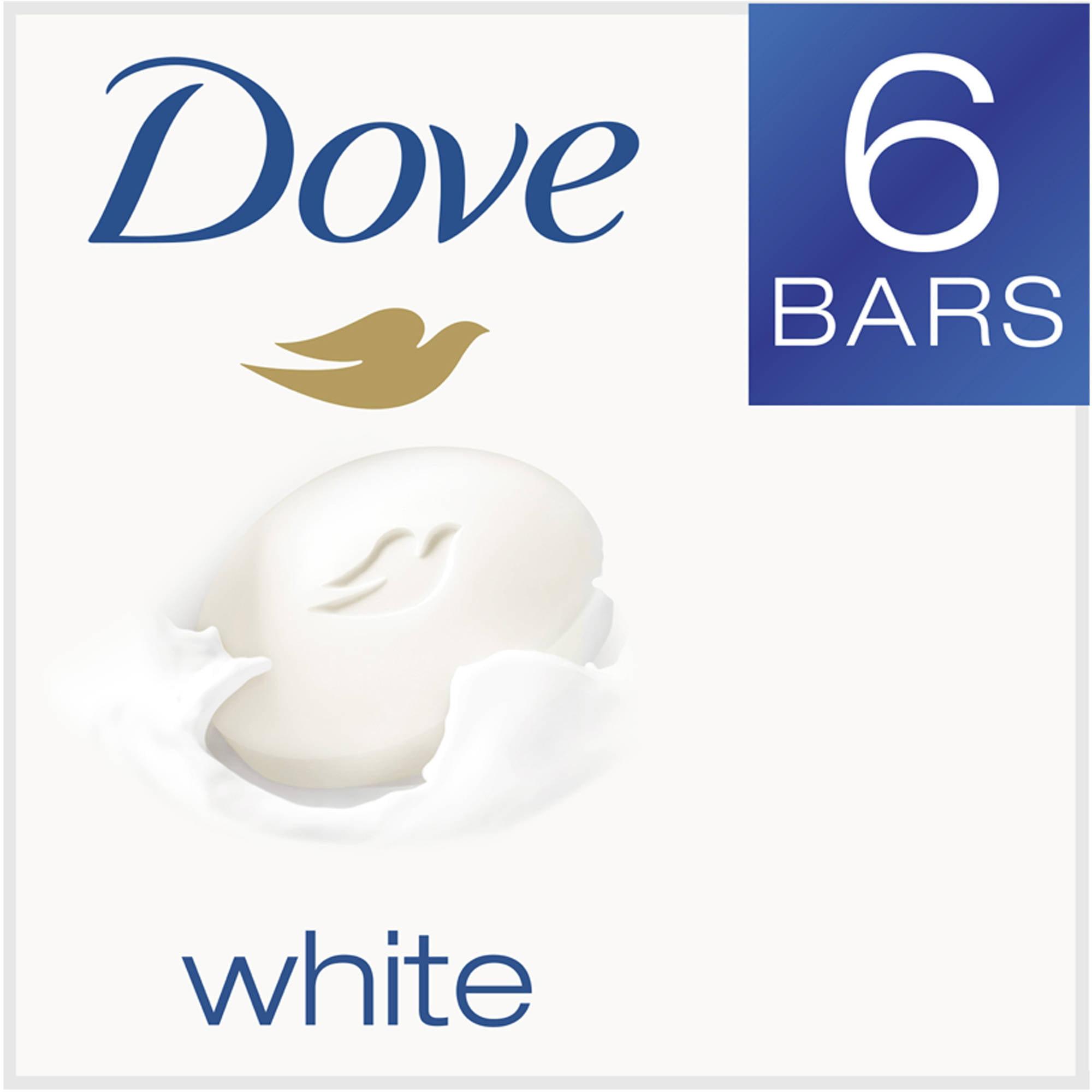 Dove White Beauty Bar, 4 oz, 6 Bar