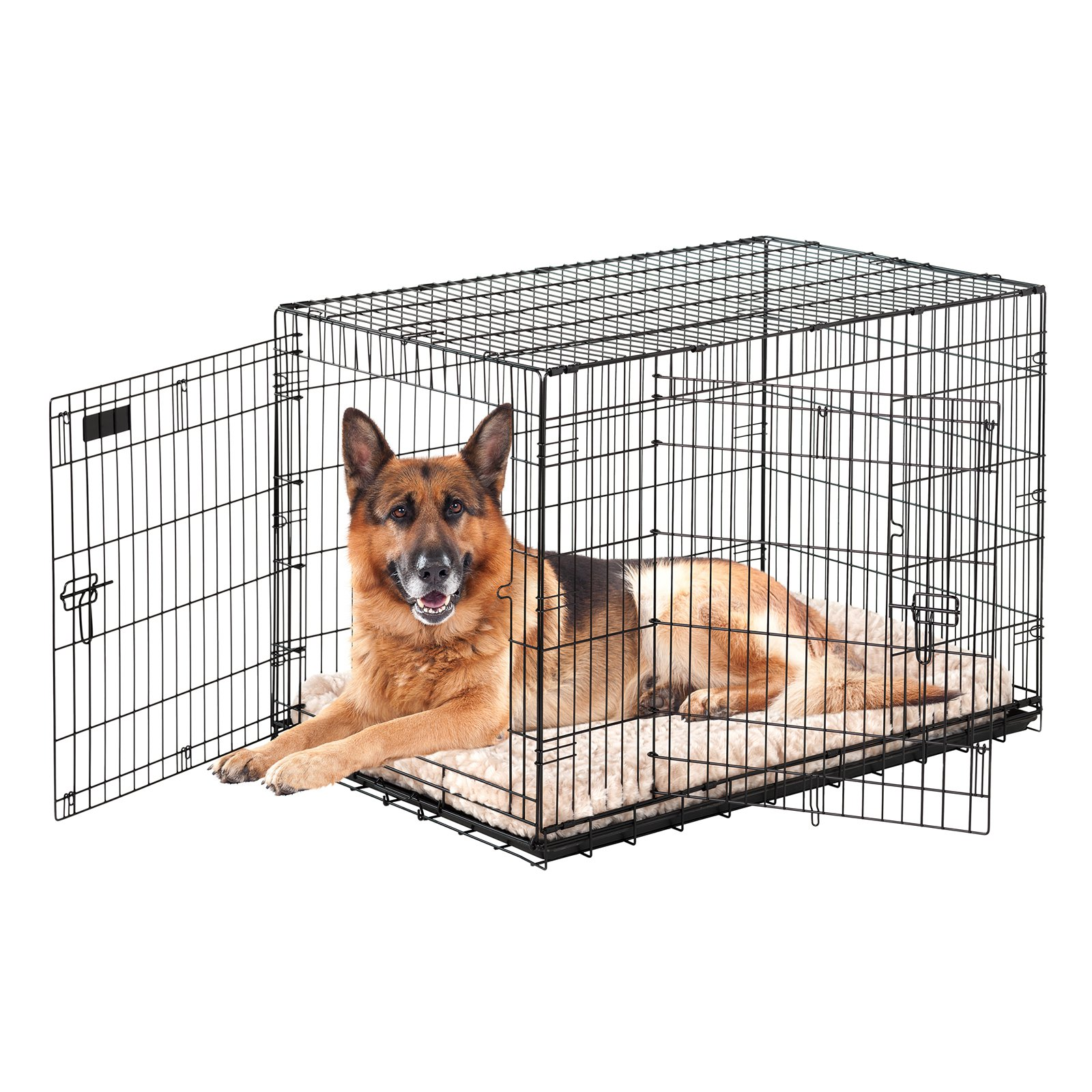 Precision Pet Great Crate - Black Metal Pet Crate 2000 - Dogs up to 25 Pounds - (24 Inch L x 18 Inch W x 20 Inch H)