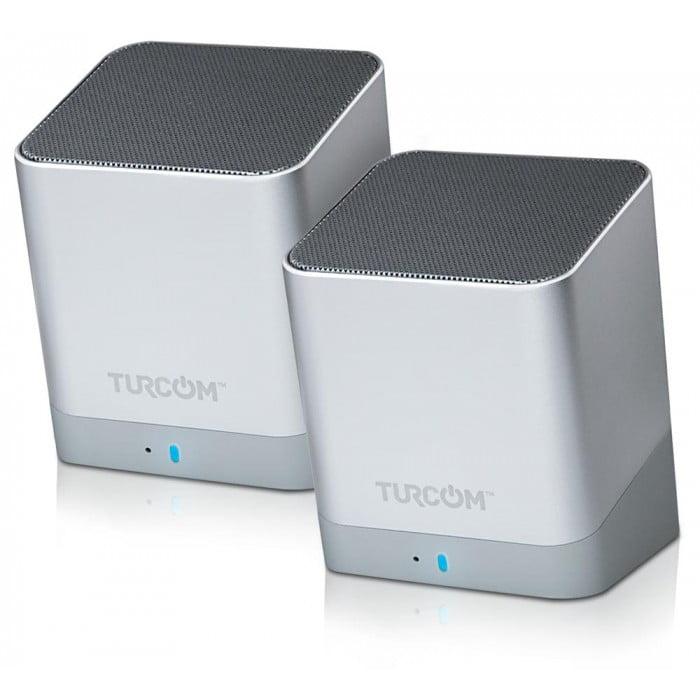 Turcom Stereo Computer Speakers Wireless Dual Bluetooth Mini PC Speaker 2.0 Channel, 3 Watt Each Power, 10... by Turcom