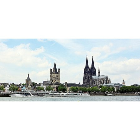 LAMINATED POSTER Cologne Cathedral Great St Martin Church Old Town Poster Print 24 x 36